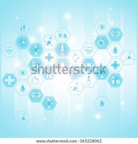 Medical background with icons