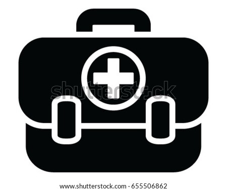 Medical bag, icon, symbol, vector, illustration, wallpaper, background, isolated