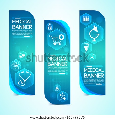 Medical banners set Design concept Design concept Vector Illustration eps 10 contains transparencies