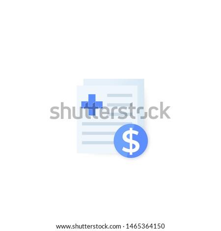 medical bills icon, vector design