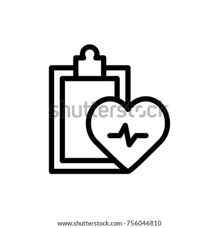 Medical blank line icon. High quality black outline logo for web site design and mobile apps. Vector illustration on a white background.