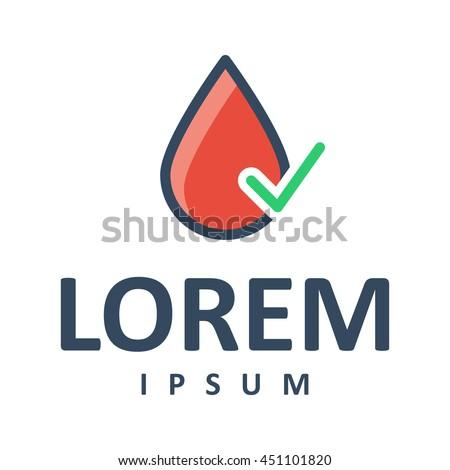 medical blood drop logo