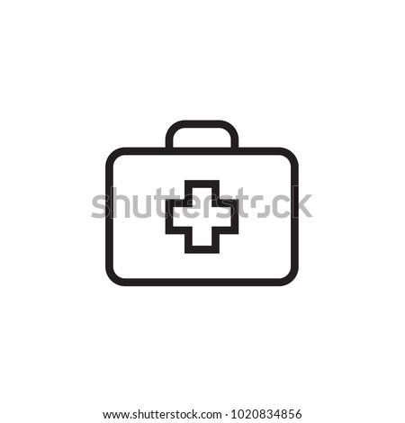 Medical box Icon Vector illustration, EPS10.