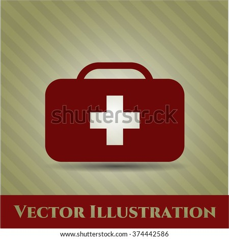 Medical briefcase high quality icon