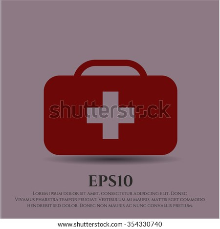 Medical briefcase icon