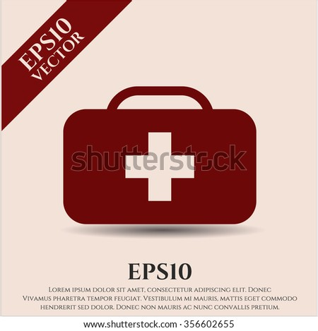 Medical briefcase icon or symbol
