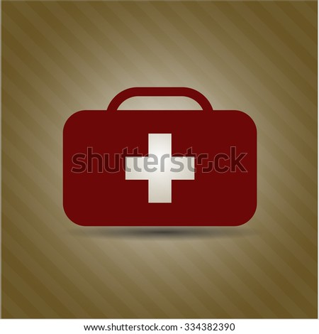 Medical briefcase icon vector illsutration