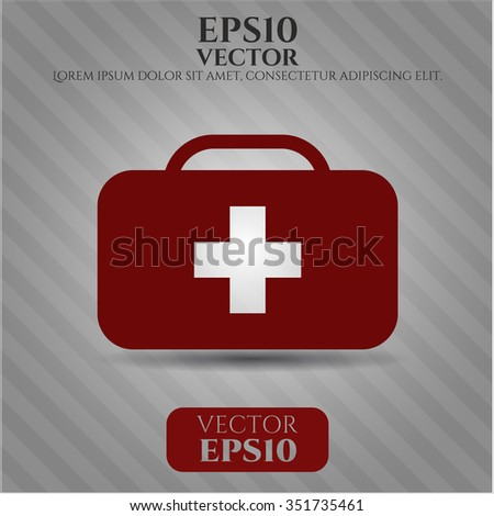 Medical briefcase icon vector illustration