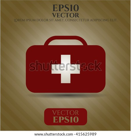 medical briefcase icon vector symbol flat eps jpg app