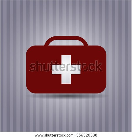Medical briefcase vector icon