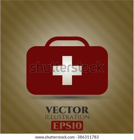 Medical briefcase vector symbol