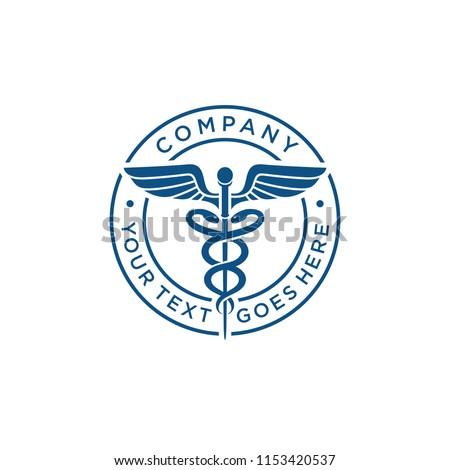 Medical caduceus logo symbol