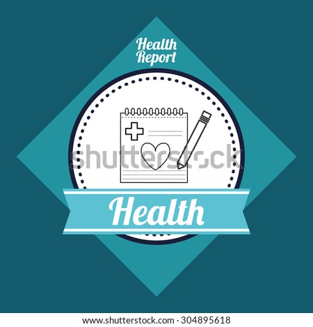 Medical care digital design, vector illustration 10 eps graphic