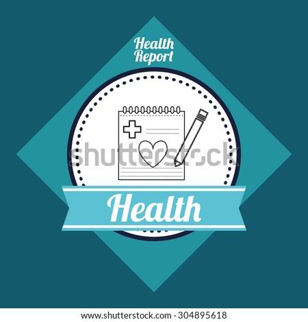 Medical care digital design, vector illustration 10 eps graphic