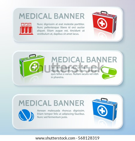 medical care horizontal banners