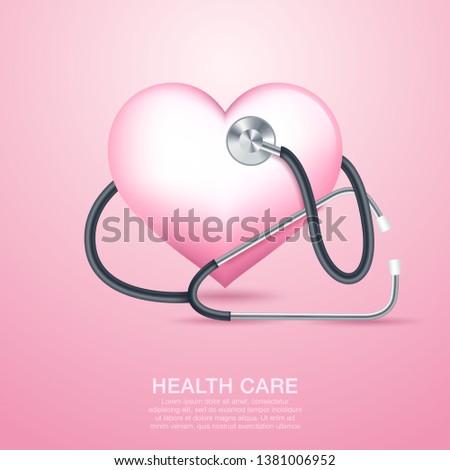 Medical care. Medical background. Health care. Vector medicine illustration