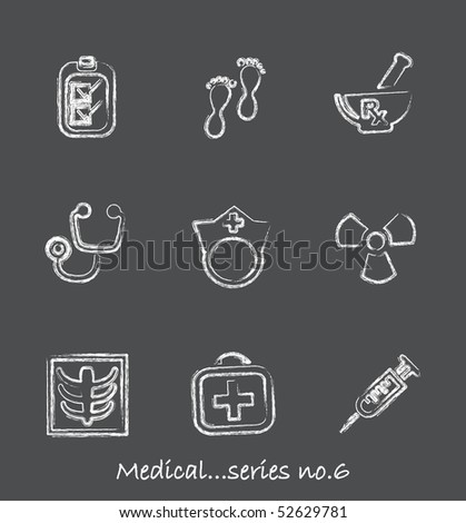 Medical chalkboard icons...series no.6