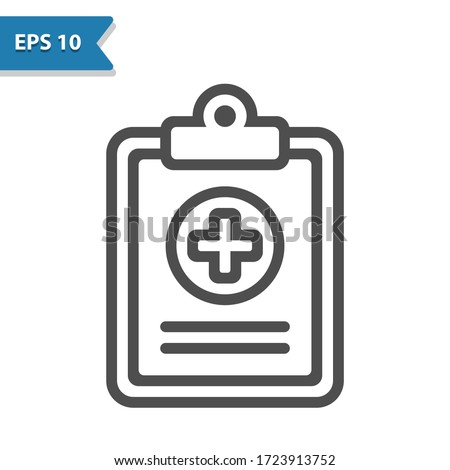 Medical Chart Icon. Professional, pixel perfect icon, EPS 10 format.