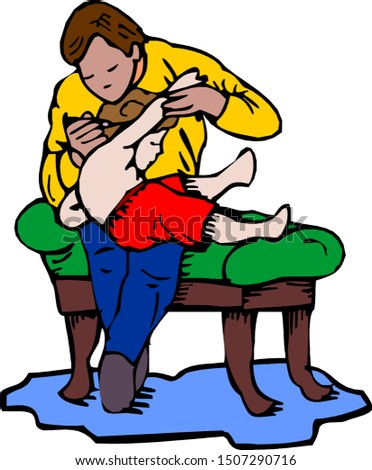 Medical Check-Up With Doctor Doing Physical Examination Physical Condition Illustration.