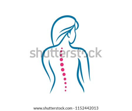 Medical Chiropractic Logo In White Isolated Background