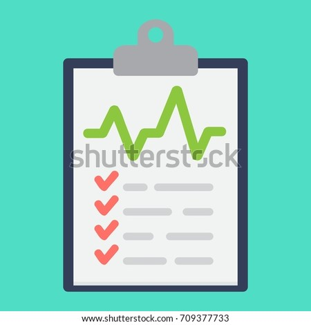 Medical clipboard flat icon, medicine and healthcare, document sign vector graphics, a colorful solid pattern on a cyan background, eps 10.
