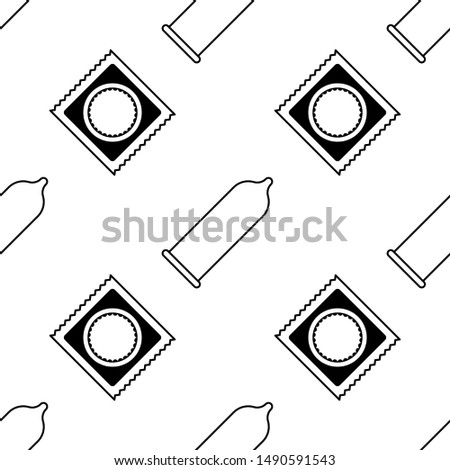 medical condom icon seamless