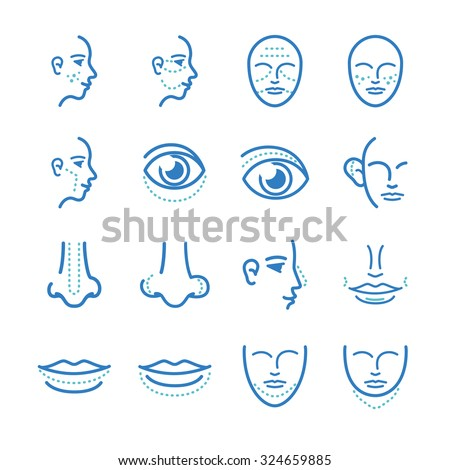 medical  cosmetic surgery icons