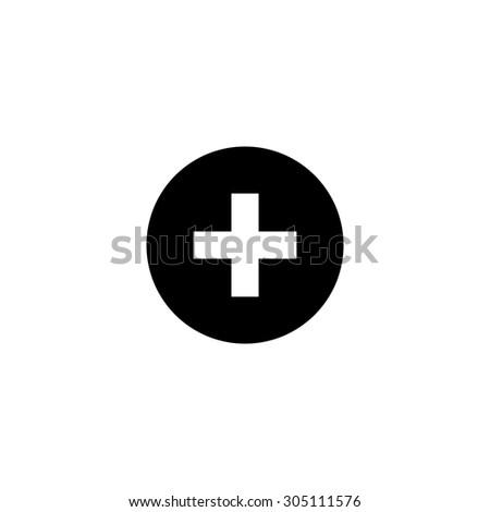 medical cross black simple