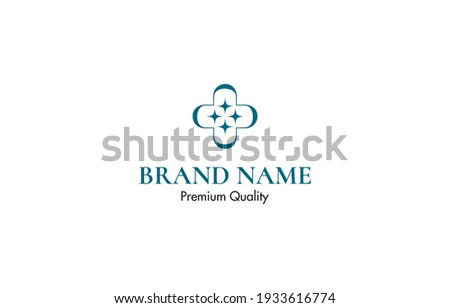 medical cross sparkle logo