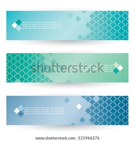 Medical crosses - banners - vector illustration