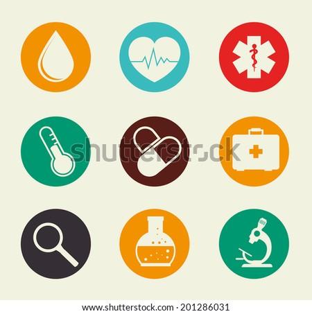 Medical design over beige background, vector illustration