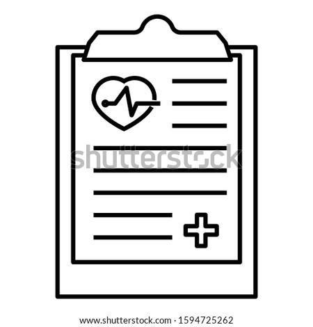 Medical Diagnosis and Record Vector Icon Design