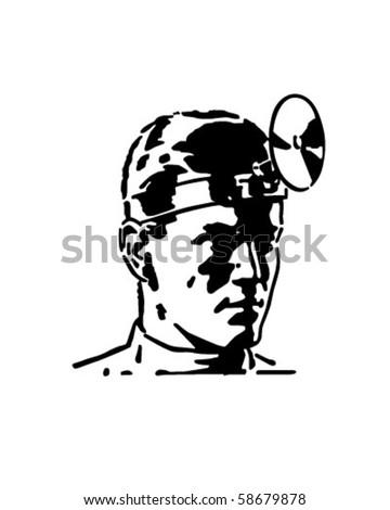 Medical Doctor - Retro Clip Art