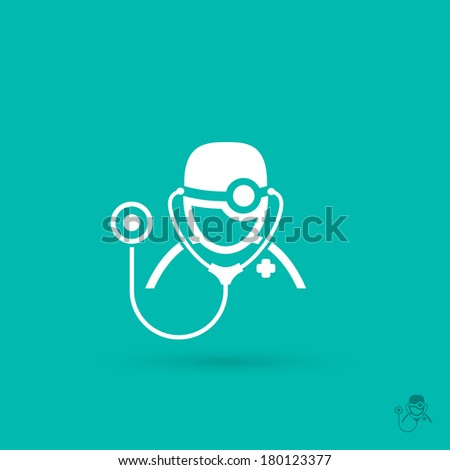 Medical doctor symbol vector illustration