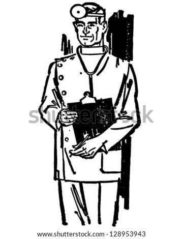 Vector Images Illustrations And Cliparts Medical Doctor With Chart
