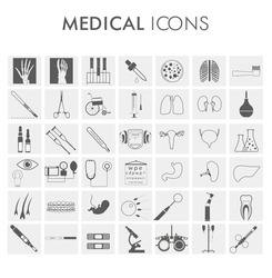 Medical equipment - vector medical icons