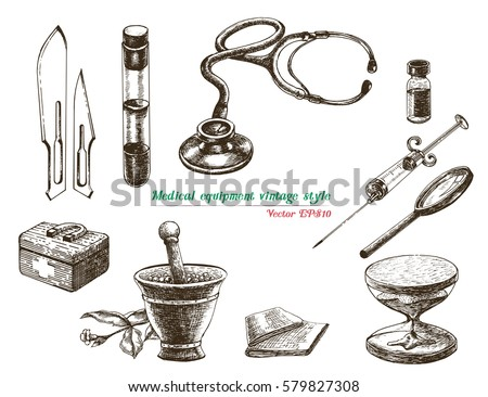 medical equipment vintage style