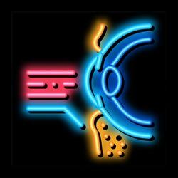 medical eyelid surgery neon light sign vector. Glowing bright icon medical eyelid surgery sign. transparent symbol illustration