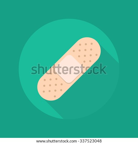 Medical Flat Icon With Long Shadow. Plaster