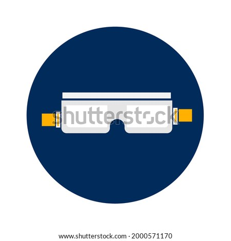 Medical Gaggles  icons for personal protection . Eye protection icons. Stok fotoğraf ©
