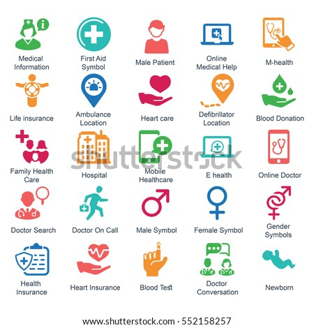 Medical & Health care Icons (Color Series) - Set 2
