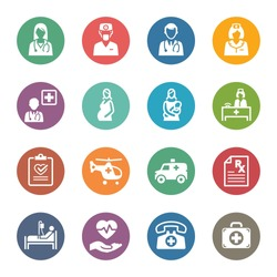 Medical & Health Care Icons Set 1 - Services | Dot Series