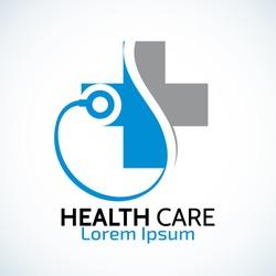 Medical health-care logo design template.- vector illustrator