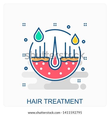 Medical, Health, Hair Treatment icon Concept