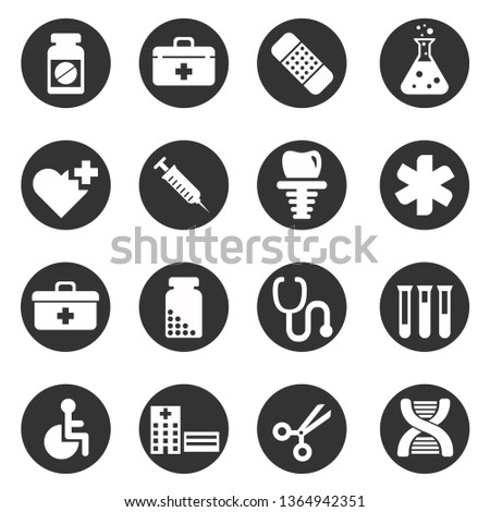 Medical, health icons set. #1364942351