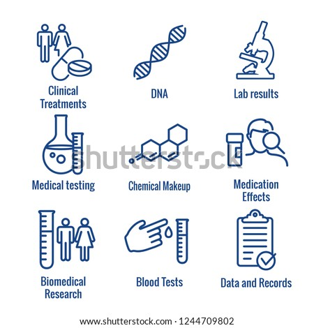 Medical Healthcare Icons - People Charting Disease or Scientific Discovery New Employee Hiring Process icon set