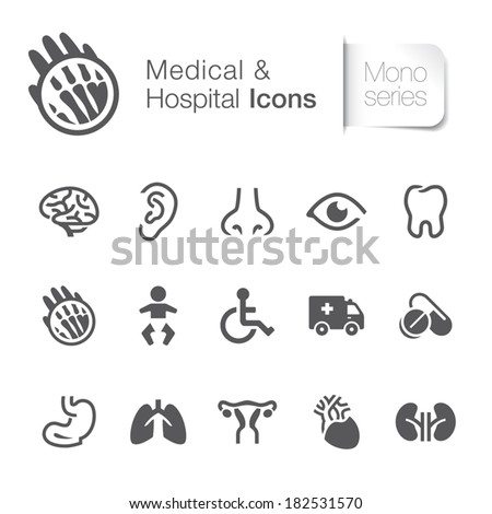 Medical & hospital related icons