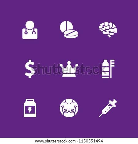medical icon 9 medical set