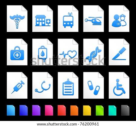 Medical Icon on Document Icon Collection Original Illustration