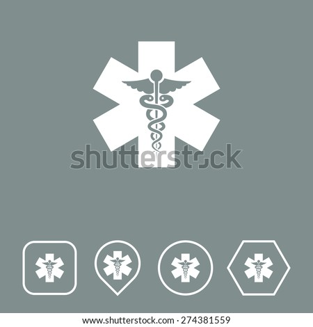 Medical Icon on Flat UI Colors with Different Shapes. Eps-10.